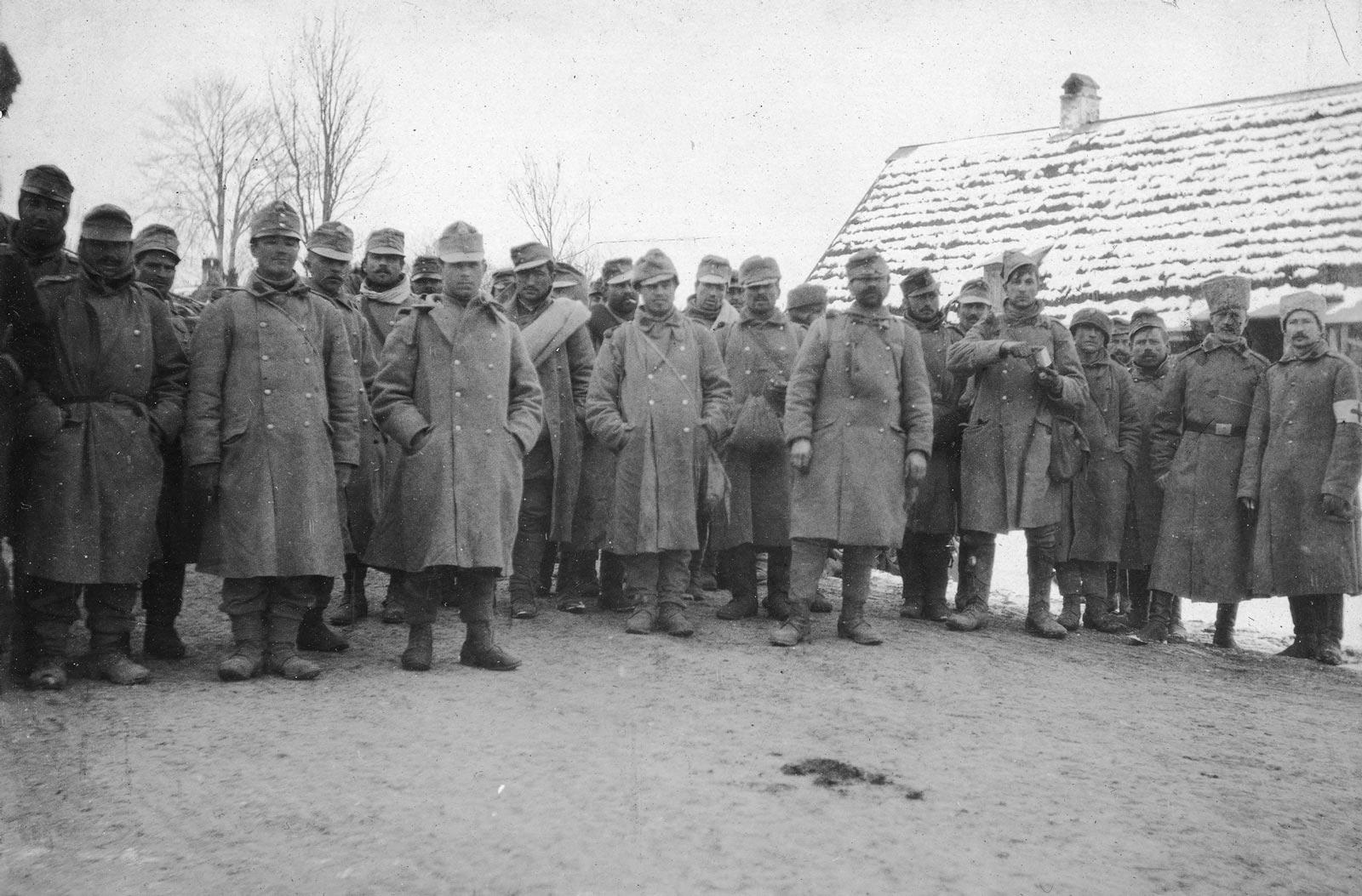 R-U vojáci v ruském zajetí v Haliči nebo na Slovensku